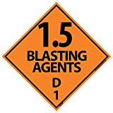 DL20AP National Marker Dot Shipping Labels, Blasting Agents 1.5, 4 Inches x 4 Inches, Ps Vinyl, 25/pk (Pack of 25)