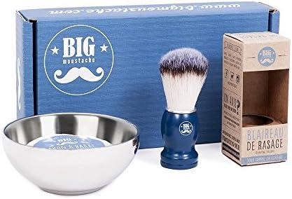 Big bigote bm-barber-pack la conjunto barbero cuenco de afeitado/tejón/jabón de afeitar: Amazon.es: Salud y cuidado personal