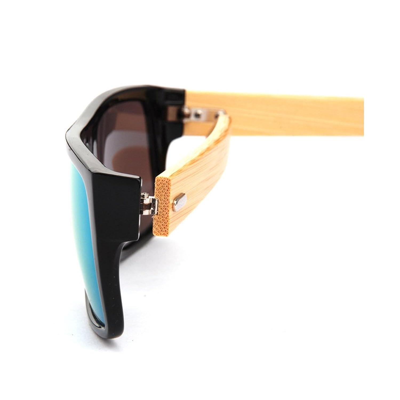 en bois de bambou Lunettes de soleil Hommes Femmes Classic Retro style Bleu JULI 1033 WGTThmWcFX