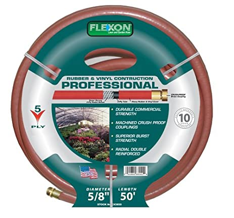 Flexon 5/8 Inch By 50 Foot Professional Garden Hose CX5850