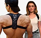 Posture Corrector: Upper Back Brace And Clavicle Support Plus Bonus Resistance Band. Correct Bad Posture, Rounded Shoulders, And Relieve Back And Neck Pain - For Men & Women (Reg/Medium)