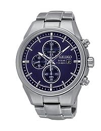 Seiko Man-Quartz Watch Chronograph Solar Titan SSC365P1