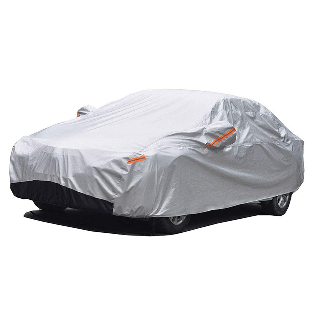 GUNHYI Winter Car Covers Four layers Waterproof All Weather, Sun Rain Dust Snow Protection For Automobiles Outdoor Indoor, Fit Hatchback (Length 165-178 inch)