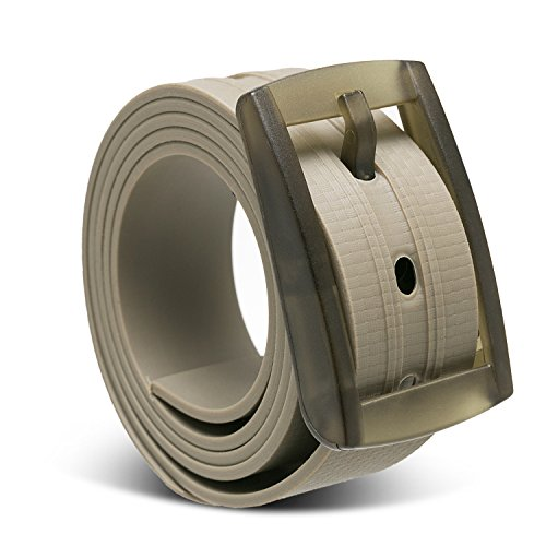 Custom Match Fit (Metal-free 3D Embossed belt, Custom, Waterproof and Adjustable Cut-to-fit ,Enclosed in an Elegant Gift Box (Khaki))