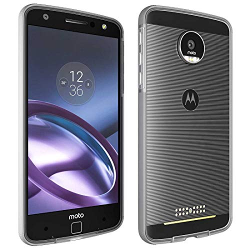 Moto Z Droid Bumper Case, Rome Tech OEM Phone Case - Motorola Moto Mods Compatible - Ultra Slim Shell With Protective Shockproof Design for Motorola Moto Z Droid (Clear)