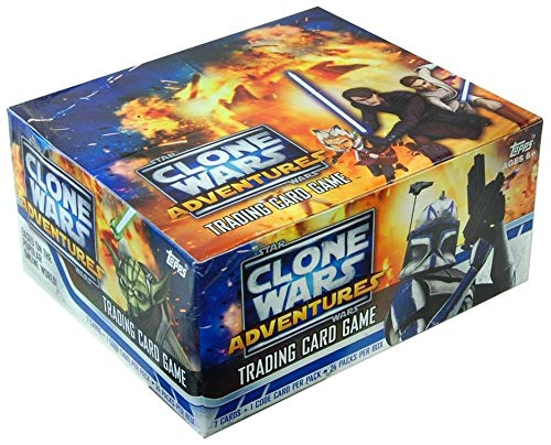 Star Wars Clone Wars Adventures Trading Card Game Box of 24 Packs Set