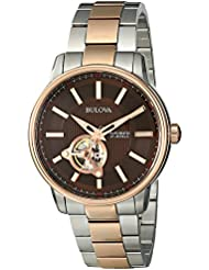 Bulova  Mens 98A140 Analog Automatic Mechanical Stainless Steel Silver Watch