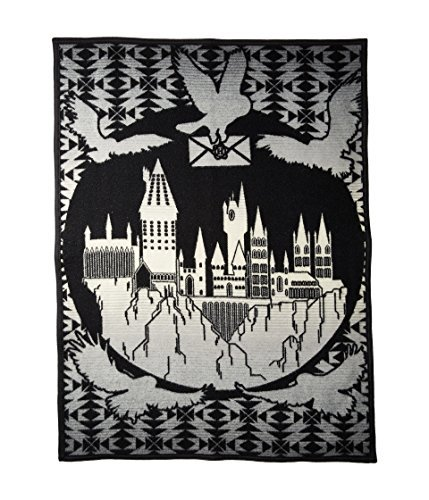 Pendleton Unisex Harry Potter - Hogwarts is My Home Jacquard Blanket (Kids) Black One Size