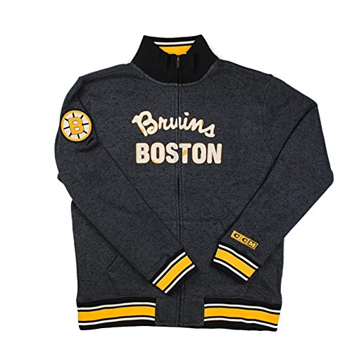 NHL Boston Bruins CCM Fleece Track Jacket, Medium