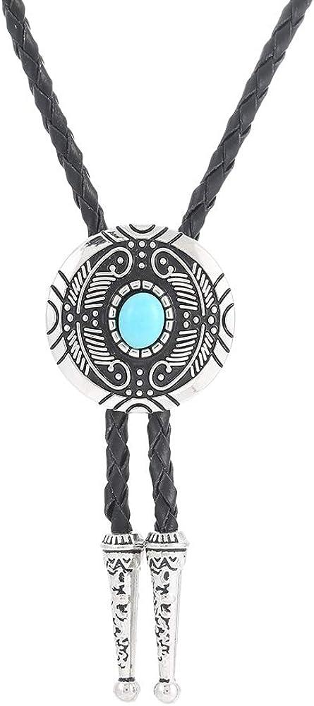 Western Cowboy Vintage Native American Elegant Wedding Bolo Ties Black Bolo tie for Men