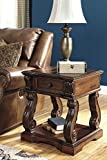 Alymery Rustic Brown Square End Table For Sale