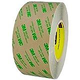BOX BT9674681PK 3M 468MP Adhesive Transfer Tape, Hand Rolls, 3'' x 60 yd., Clear