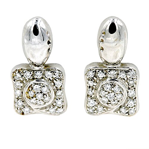 Diamond Fashion Earrings in 18K White Gold (1/5 cttw) ()