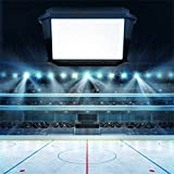 LFEEY 5x5ft Lighting Hockey Stadium Photo Backdrop Fans Blank Cube Text Space Background for Portraits Kids Boys Mens Adutls Photography Props