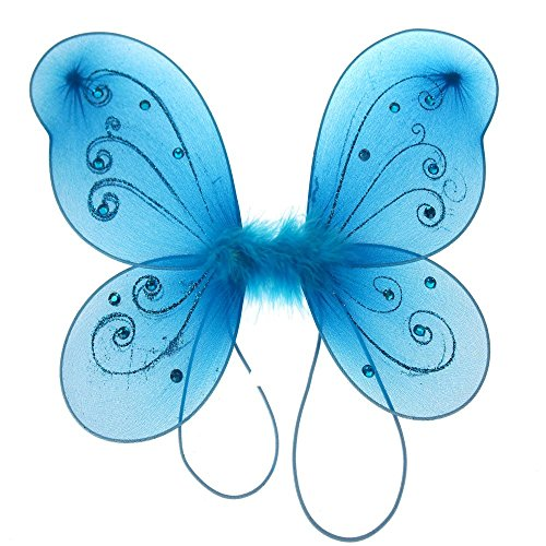Turquoise Fairy Wings - Homeford Firefly Imports Organza Nylon Butterfly
