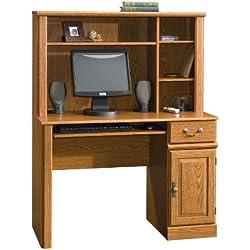 Sauder Orchard Hills Computer Desk with Hutch, Carolina Oak
