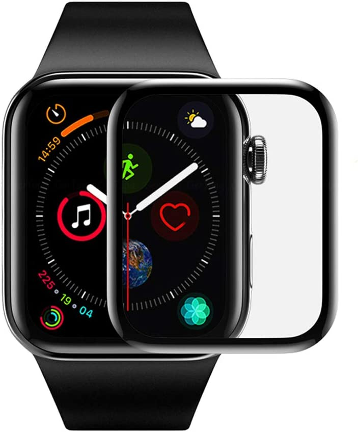 Full Screen Watch Protective Film 3D Curved Edge Compatible Apple Watch Series 6/SE Tempered Glass Screen Protector Film Compatible with iWatch 38 40 42 44mm [2 Pack] (40mm)