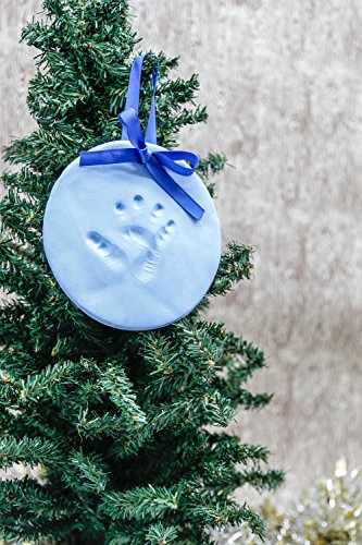 how to make baby footprint ornament