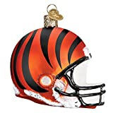 Old World Christmas Glass Blown Ornament with S-Hook, NFL Football Collection (Helmet, Cincinnati Bengals)