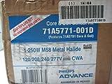 Philips Advance 71A5771001D (1) 250 Watt Metal Halide Lamp Core and Coil Quad HID Ballast Kit 120/208/240/277 Volt