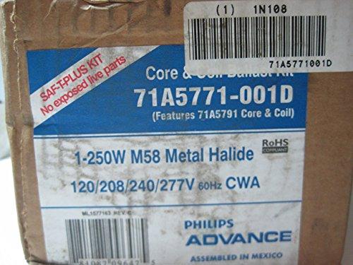 Philips Hid Ballast - Philips Advance 71A5771001D (1) 250 Watt Metal Halide Lamp Core and Coil Quad HID Ballast Kit 120/208/240/277 Volt