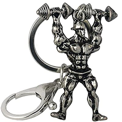 Strong Man Keychain Men Fitness Bodybuilding Key Chains For Car Wallet Keys Ring Sports Jewelry Gym Gifts