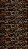 Ella Bella Photography Backdrop Paper, Aged Brown Brick, 48'' x 12', 1 Roll