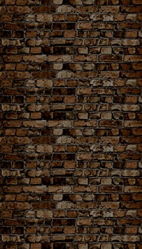 Ella Bella Photography Backdrop Paper, Aged Brown Brick, 48