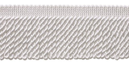 10 Yard Value Pack of White 2.5 Inch Bullion Fringe Trim, St