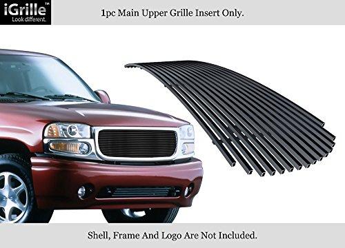 (APS Black Stainless Billet Grille Fits 01-06 GMC Yukon/Yukon Denali/99-02 Sierra #G65704J)