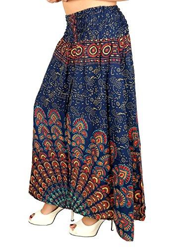 Sarjana Handicrafts - Falda - para mujer turquesa