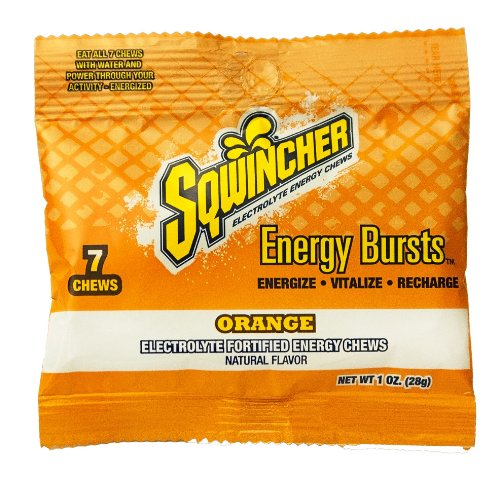Sqwincher 7 Chews Electrolyte Fortified Energy Burst Pouch (Pack of 12)