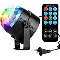 Coidea 3W RGB Party Disco Lights Sound Activated Storbe w/ Remote Control