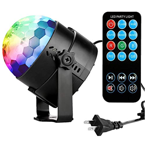Party Room (Disco Ball Disco Lights-COIDEA Party Lights Sound Activated Storbe Light With Remote Control DJ Lighting,Led 3W RGB Light Bal, Dance lightshow for Home Room Parties Kids Birthday Wedding Show Club Pub)