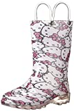Western Chief Girls' Hello Kitty Waterproof Character Rain Boots with Easy on Handles, Light-up Hello Kitty, 12 M US Little Kid