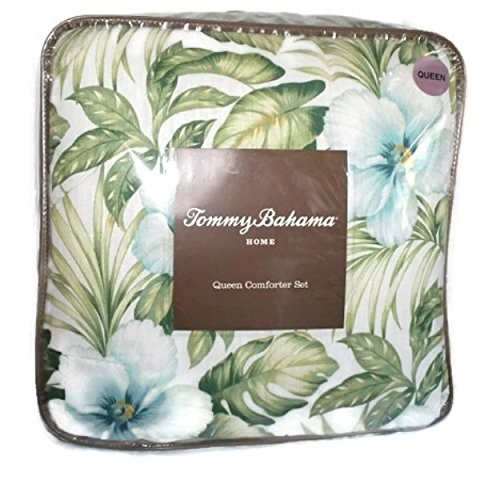 Tommy Bahama Bonny Cove ivory pink green tropical king co...