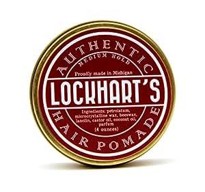 Lockhart's Medium Hold Authentic Hair Pomade 4oz by Lockhart's