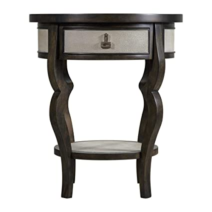 Amazon Com Uttermost 25966 Remy Dark Walnut Round Accent Table With