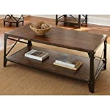 Windham Solid Birch Wood – Iron Contemporary Coffee Table Rustic – Industrial Style Review
