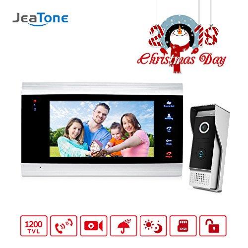 Jeatone Door Access Control 7 Inch LCD Display Video Doorbell Door Phone 1V1 HD 1200TVL Security Camera Intercom Home System by Jeatone