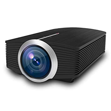 ZUEN Proyector Mini LED HD 1080P Proyector Altavoz ...