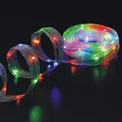 Cosmo Lighting 18ft Long LED Ribbon Lights, 1.25 inch width, 108 LEDs in options of Blue, Green, Multi, Red, White, or Gold