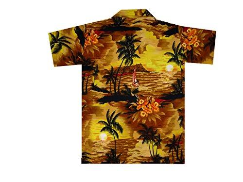 Funky Camicia Hawaiana, Surf, mustard, L