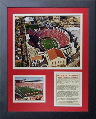 (Legends Never Die Wisconsin Badgers Camp Randall Stadium Framed Photo Collage, 11 by 14-Inch)