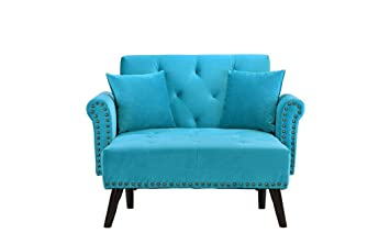 Jade - Chaise longue recta, terciopelo, diseño clásico, 115 x 153 x 84 cm, diferentes colores