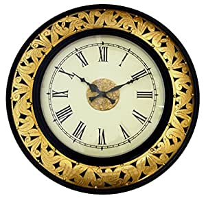 Wooden Wall Decorations For Living Room Elegant Wall Clock 18 Inches Home Kitchen