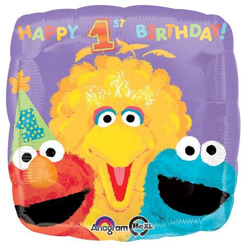 18 Anagram A1195 0 Sesame 1St Birthday Foil Balloon Multicolored