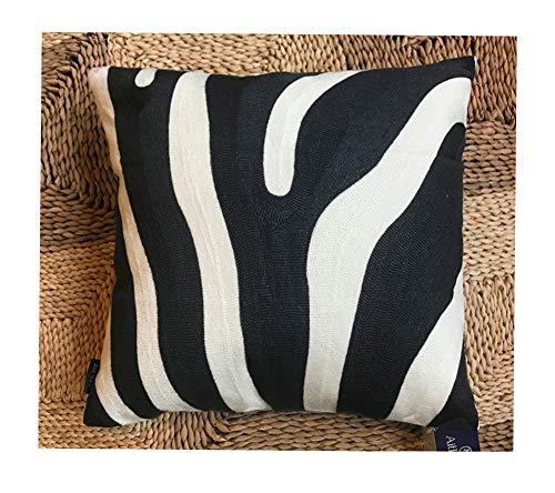 - Aitliving Decorative Pillowcase Embroidered Cotton Canvas 1pc Zebra Stripe Decorative Throw Pillow Cover Black and White 17x17,43x43cm