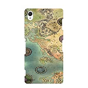 Sony Xperia Z2 Case Cover,Guild Wars 2 Game Phone Case,Artwork Series Vintage Custom 3D Back Case Cover (Guild Wars Stylish)