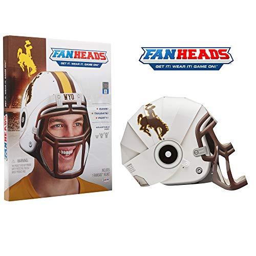 Fan Heads 69563 Wyoming Cowboys Helmet, White